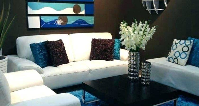 Decorating Blue Brown Living Room Ideas