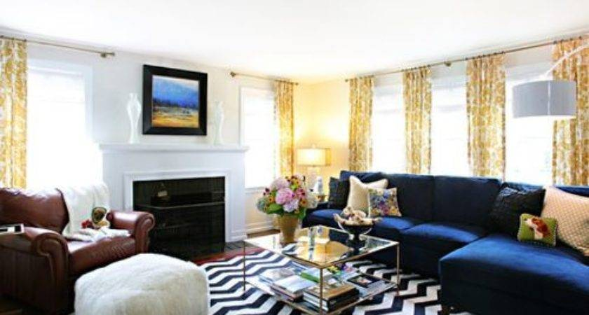 Decorating Blue Couch Houzz