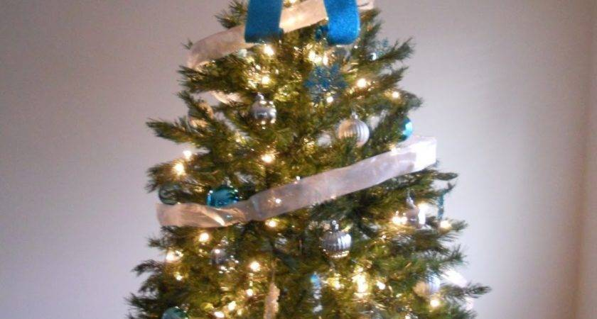 Decorating Cents Blue Silver Christmas Tree