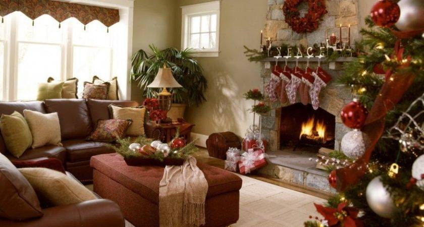 Decorating Ideas Green Living Rooms Christmas Outside