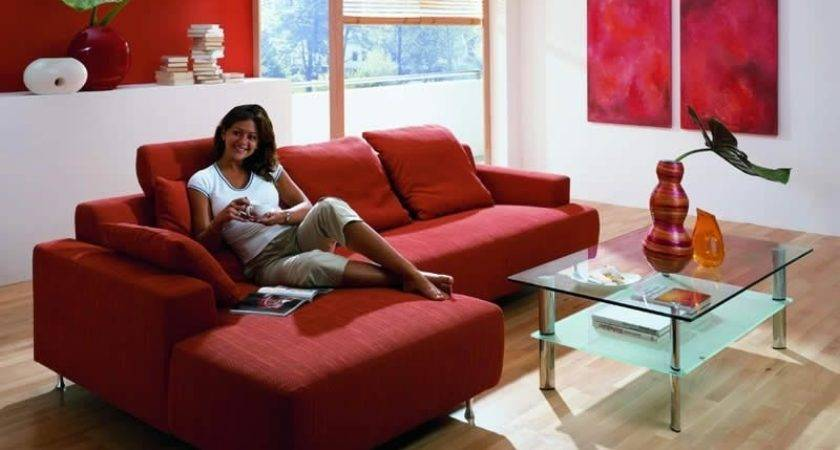 Decorating Ideas Living Room Red Leather Sofa Couch