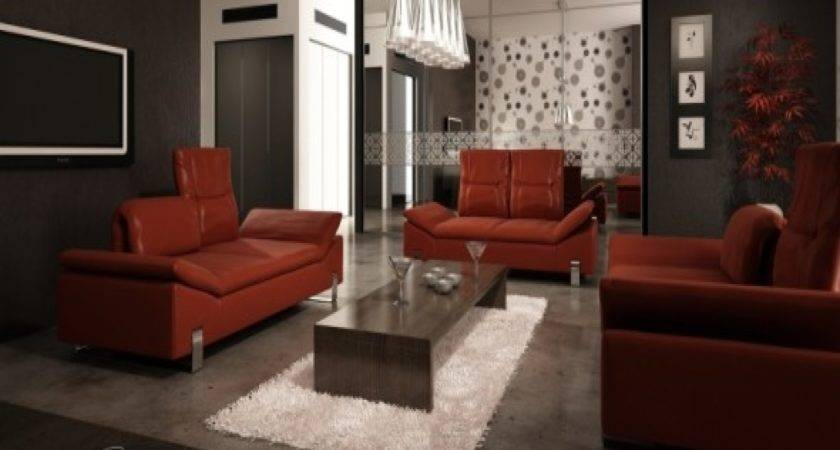 Decorating Ideas Living Room Red Leather Sofa Refil