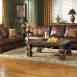 Decorating Living Room Dark Brown Leather Sofa