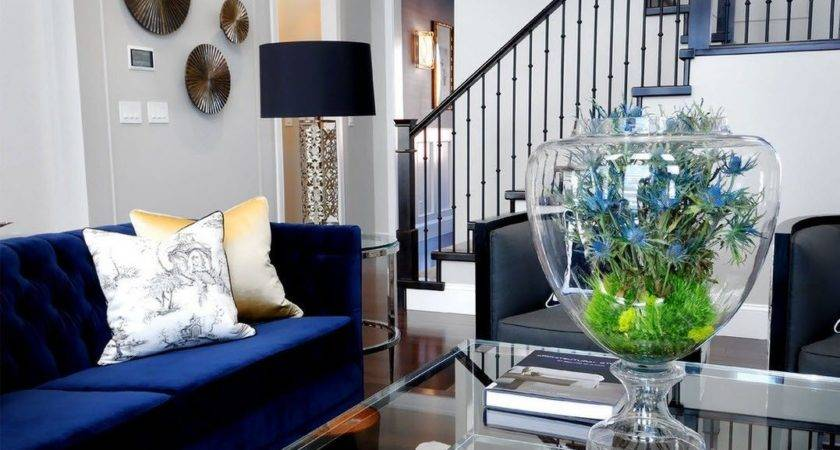Decorating Living Room Navy Blue Furniture Home