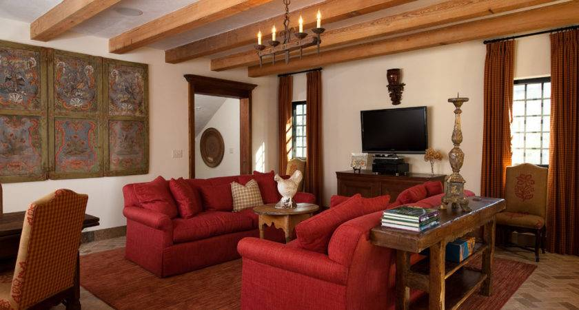 Decorating Living Room Red Sofa Modern House