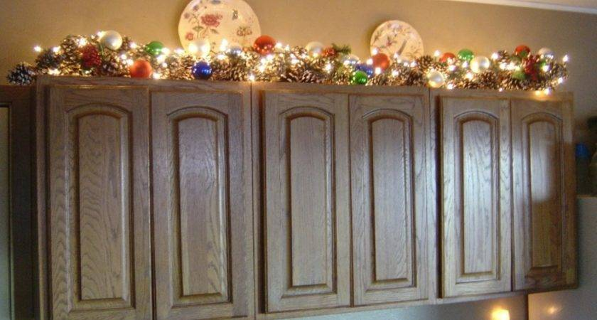 Decorating Tops Kitchen Cabinets Above