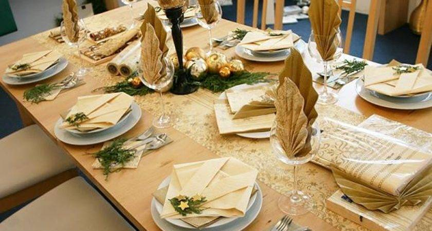 Decoration Gold White Christmas Table Decorations