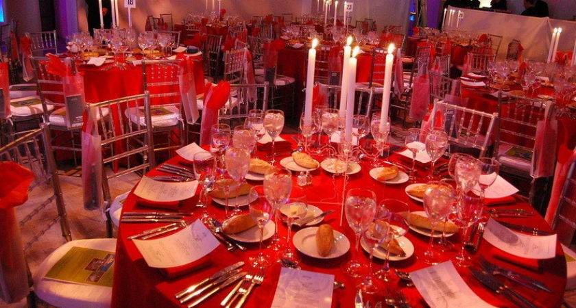Decoration Romantic Red Dinner Table Setting Ideas