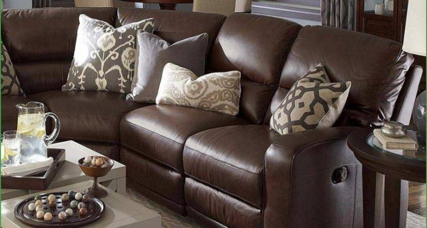 Decorative Pillows Brown Leather Sectional Custom