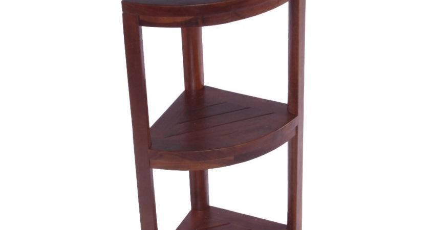 Decoteak Tier Classic Spa Teak Corner Outdoor Shelf