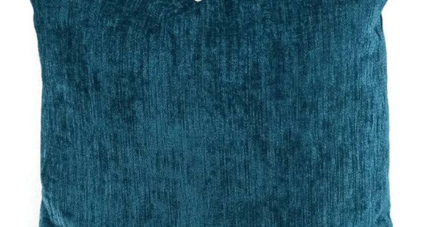 Deep Turquoise Chenille Pillow Cover Dark Teal Throw