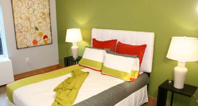 Delightful Lime Green Accent Walls Rejoice Your Home