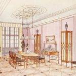 Design Dining Room Drawing Paul Ludwig Troost