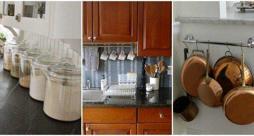 Design Ideas Little Counter Space Organizing Small