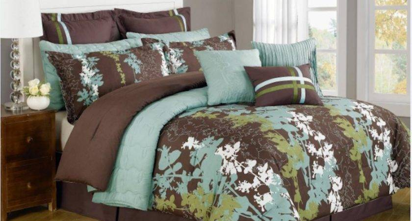 Design Teal Brown Bedding Linens Atzine