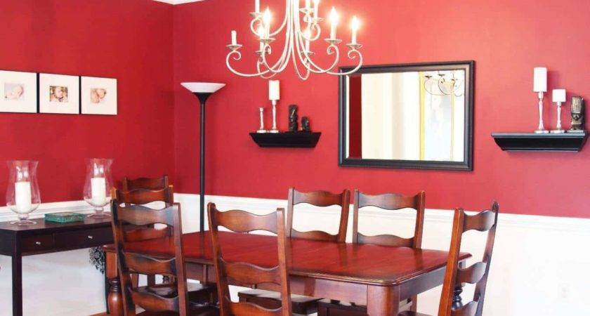 Dining Room Decorating Red Walls Mirror Fresh