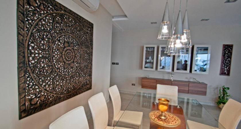 Dining Room Feature Wall Mellieha Penthouse Malta