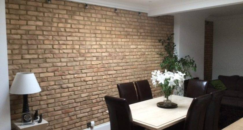 Dining Room Feature Wall Rustic Kuci