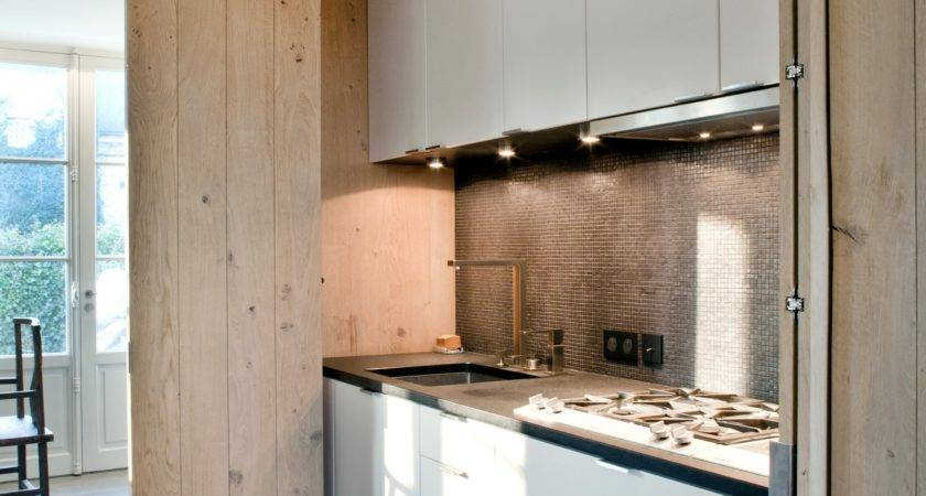 Disappearing Act Minimalist Hidden Kitchens