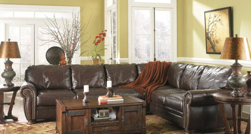 Distressed Leather Sectional Homesfeed