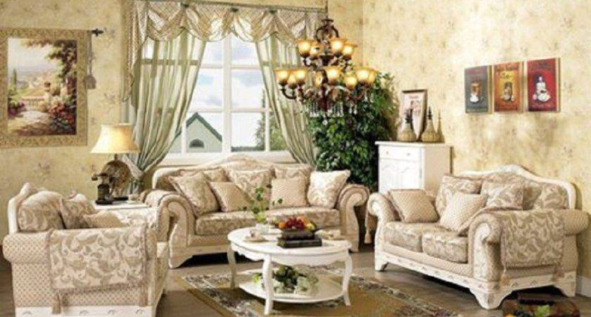 Distressed Paneling French Country Cottage Living Room