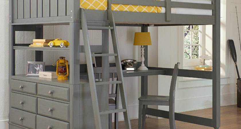 District Stone Lake House Loft Bed Beds
