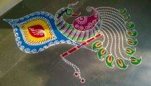 Diwali Floor Decoration Ideas Lightening Stars Earth