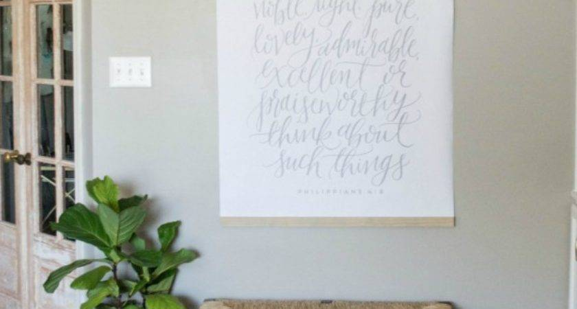 Diy Large Wall Art Less Than Unexpected Elegance