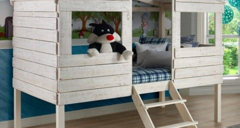 Donco Twin Treehouse Loft Bed Bunk Beds