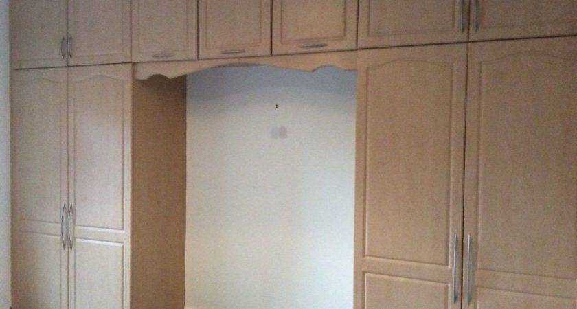 Double Fitted Bedroom Wardrobes Over Bed Cupboards