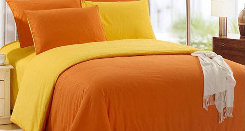 Double Solid Color Pure Bright Yellow Orange Patchwork