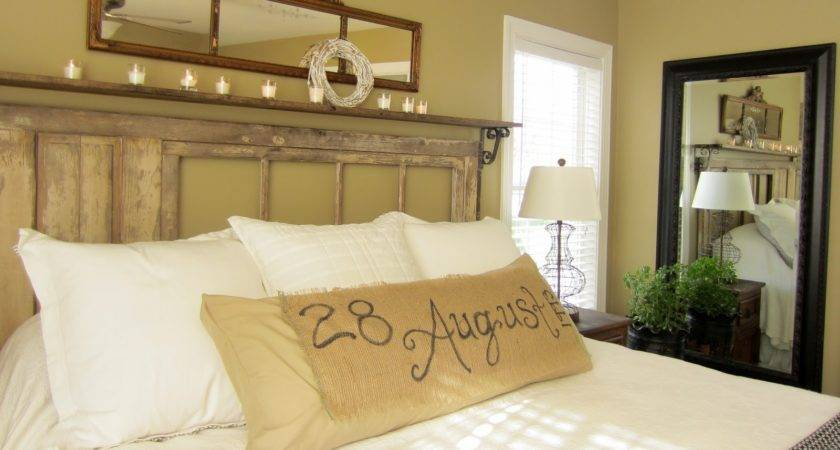 Down Earth Style Vintage Rustic Master Bedroom
