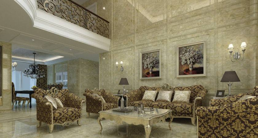 Drawing Room Interiors European Style Villa