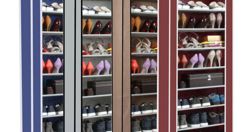 Dustproof Tier Shoes Cabinet Storage Organizer Shoe