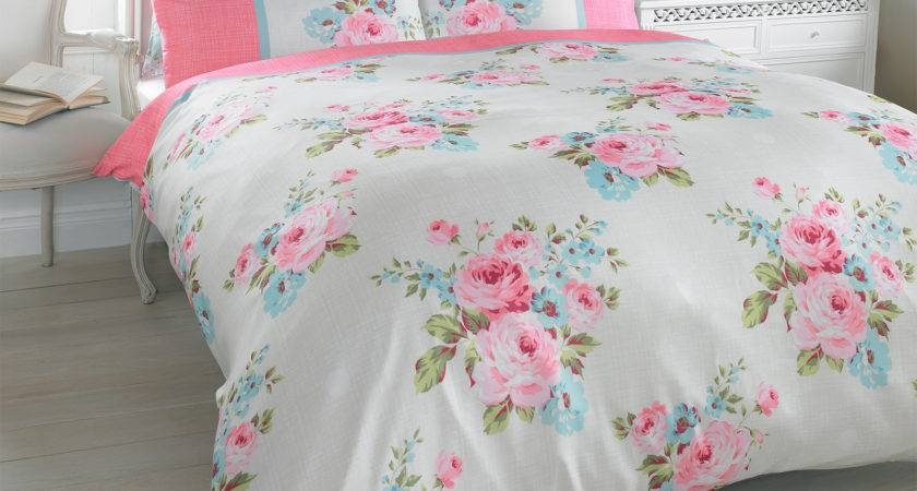 Duvet Quilt Cover Pillowcase Bedding Set Floral Rosie
