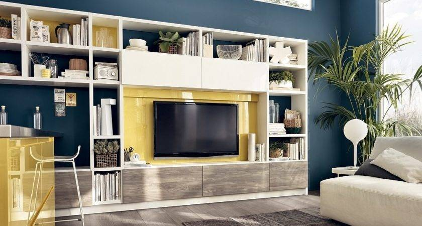 Dynamic Living Room Compositions Versatile Wall