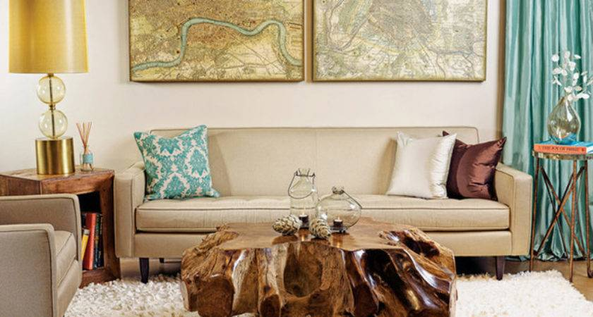 Earthy Modern Eclectic Living Room High Fashion Home