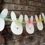 Easter Bunny Banner Garland Nursery Room Decor