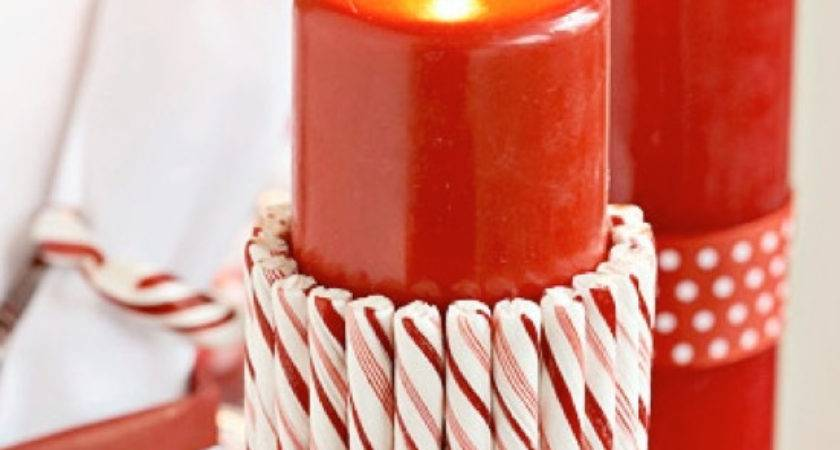Easy Candy Cane Table Decorations Photograph