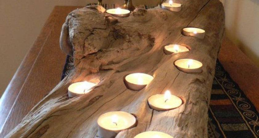 Easy Diy Wood Candle Holders Some Rustic Warmth