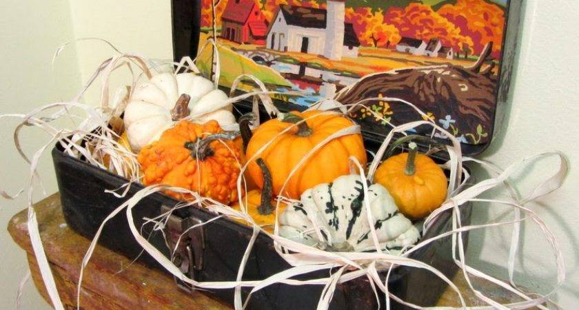 Easy Fall Vintage Junk Decorating Organized Clutter