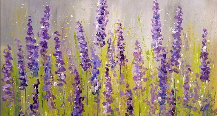 Easy Lavender Painting Cotton Swabs Acrylic