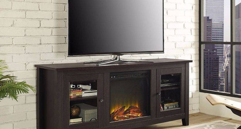 Electric Fireplace Media Console Stand Entertainment