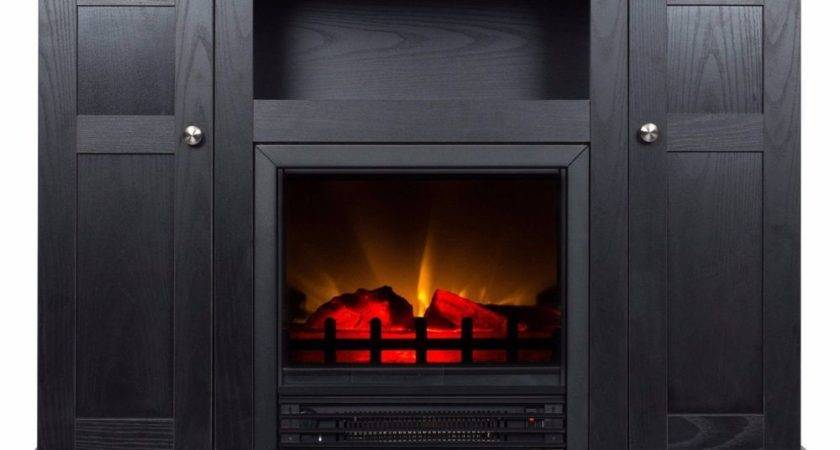 Electric Fireplace Stand Heater Media Storage