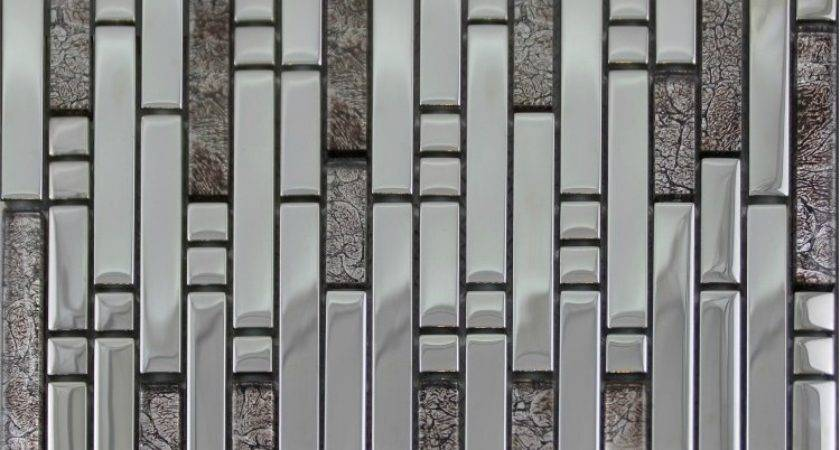 Electroplate Glass Mosaic Tile Backsplash Ssmt Silver