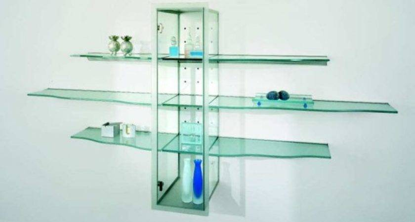 Elegance Floating Glass Shelves Design