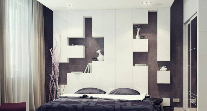 Elegant Bedroom Wall Paint Ideas Black White