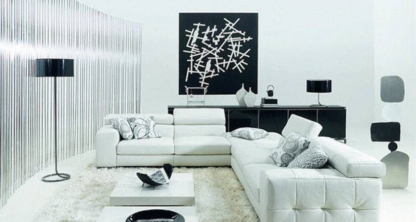 Elegant Black White Living Room Design Ideas