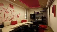 Elegant Bold Red White Living Room Furniture