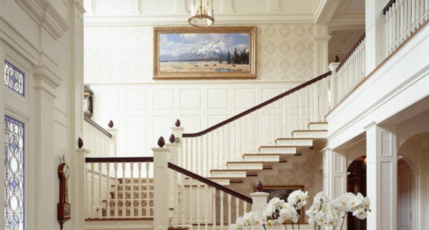 Elegant Foyer Staircase Content Cottage